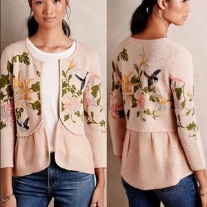 MOTH By Anthropologie hummingbird sweater
